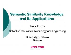 Semantic Similarity Knowledge and its Applications