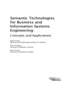 Semantic Technologies for Business and Information Systems Engineering: