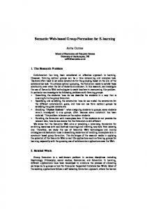 Semantic Web-based Group Formation for E-learning