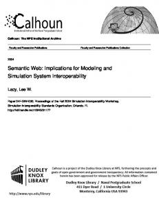 Semantic Web: Implications for Modeling and Simulation System Interoperability