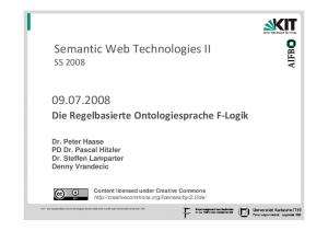 Semantic Web Technologies II SS 2008