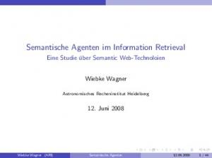 Semantische Agenten im Information Retrieval