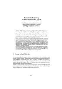 Semantische Kodierung fachwissenschaftlicher Applets