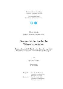 Semantische Suche in Wissensportalen