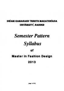 Semester Pattern Syllabus