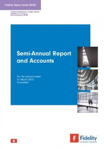 Semi-Annual Report and Accounts