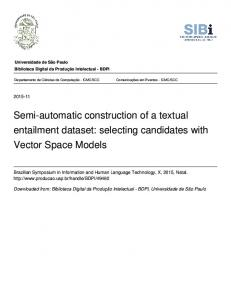 Semi-automatic construction of a textual entailment dataset: selecting candidates with Vector Space Models
