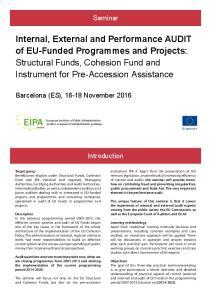 Seminar. Barcelona (ES), November Introduction