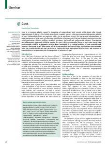 Seminar. Gout. Pascal Richette, Thomas Bardin