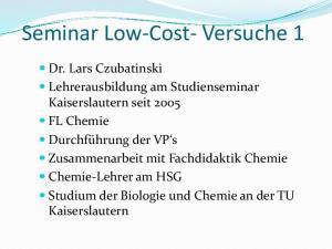 Seminar Low-Cost- Versuche 1