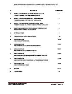 SEMINAR PENYELIDIKAN PENDIDIKAN DAN PEMBANGUNAN SUMBER MANUSIA 2014 BIL KANDUNGAN MUKA SURAT 5 ATUR CARA MAJLIS 6