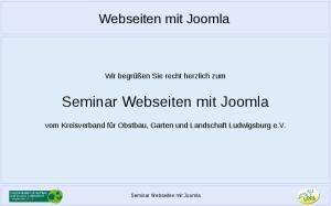 Seminar Webseiten mit Joomla