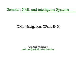 Seminar: XML und intelligente Systeme