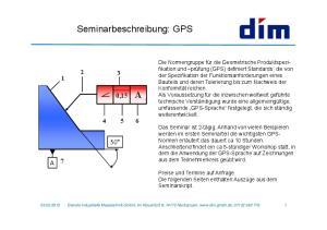 Seminarbeschreibung: GPS