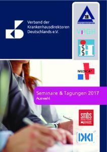 Seminare & Tagungen 2017 Auswahl