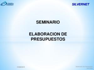 SEMINARIO ELABORACION DE PRESUPUESTOS