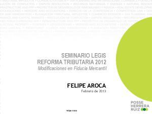 SEMINARIO LEGIS REFORMA TRIBUTARIA 2012
