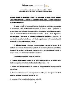 Seminario Taller de Rendiciones de Cuentas - AGN - OLACEFS Honorable Tribunal de Cuentas de la Provincia de Buenos Aires