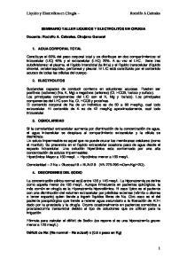 SEMINARIO TALLER LIQUIDOS Y ELECTROLITOS EN CIRUGIA