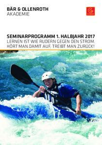 SEMINARPROGRAMM 1. HALBJAHR 2017