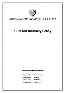 SEN and Disability Policy