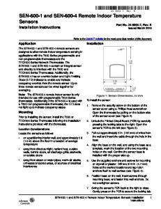 SEN and SEN Remote Indoor Temperature Sensors