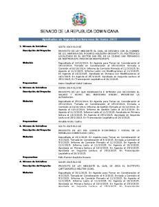 SENADO DE LA REPUBLICA DOMINICANA