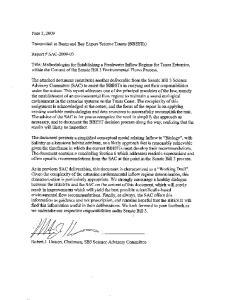 Senate Bill 3 Science Advisory Committee for Environmental Flows