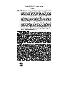Senate Bill No. 374 Senator Farley