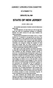 SENATE, No. 969 STATE OF NEW JERSEY