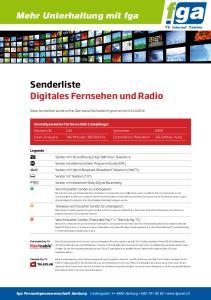 Senderliste Digitales Fernsehen und Radio