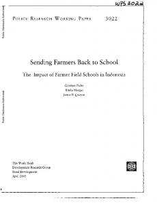 Sending Farmers Back to School
