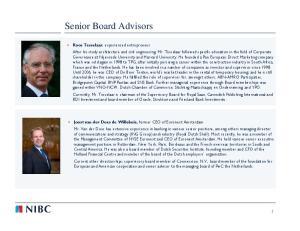 Senior Board Advisors