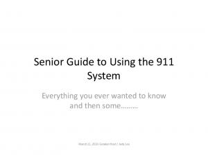 Senior Guide to Using the 911 System