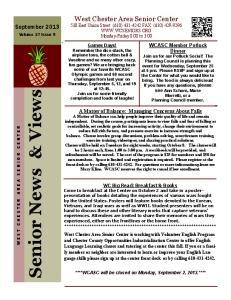 Senior News & Views. Volume 37. September 2013
