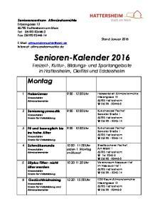 Senioren-Kalender 2016