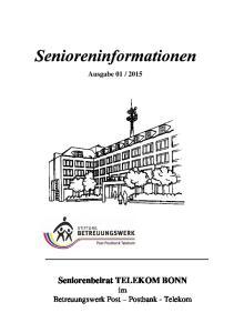 Seniorenbeirat TELEKOM BONN im Betreuungswerk Post Postbank - Telekom