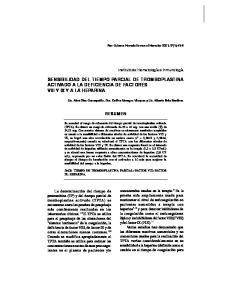 SENSIBILIDAD DEL TIEMPO PARCIAL DE TROMBOPLASTINA ACTIVADO A LA DEFICIENCIA DE FACTORES VIII Y IX Y A LA HEPARINA