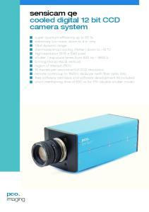 sensicam qe cooled digital 12 bit CCD camera system
