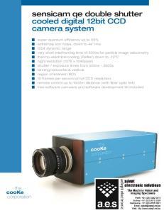 sensicam qe double shutter cooled digital 12bit CCD camera system