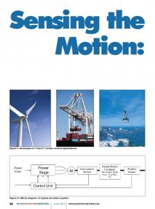 Sensing the Motion: powertransmissionengineering august Figure 1 Examples of macro motion control applications
