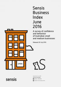 Sensis Business Index June 2016
