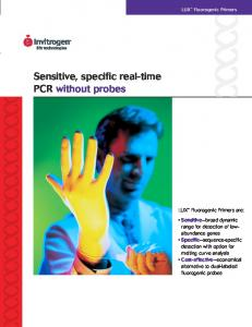 Sensitive, specific real-time PCR without probes