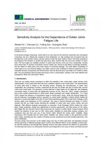 Sensitivity Analysis for the Dependence of Solder Joints Fatigue Life