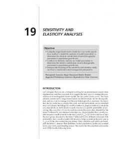 SENSITIVITY AND ELASTICITY ANALYSES