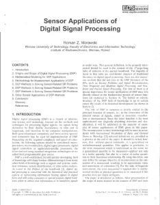 Sensor Applications of Digital Signal Processing