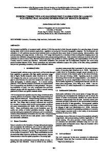 SENSOR CORRECTION AND RADIOMETRIC CALIBRATION OF A 6-BAND MULTISPECTRAL IMAGING SENSOR FOR UAV REMOTE SENSING