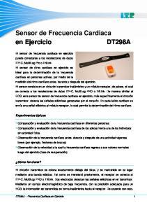 Sensor de Frecuencia Cardiaca