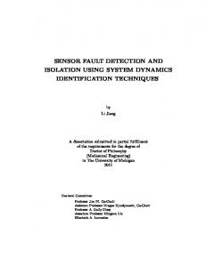 SENSOR FAULT DETECTION AND ISOLATION USING SYSTEM DYNAMICS IDENTIFICATION TECHNIQUES