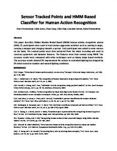 Sensor Tracked Points and HMM Based Classifier for Human Action Recognition